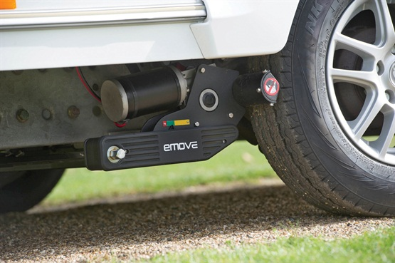 e-move e203 caravan mover fitted on caravan
